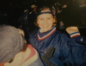 Jamie Marich during the Major League Baseball Playoffs, 1997